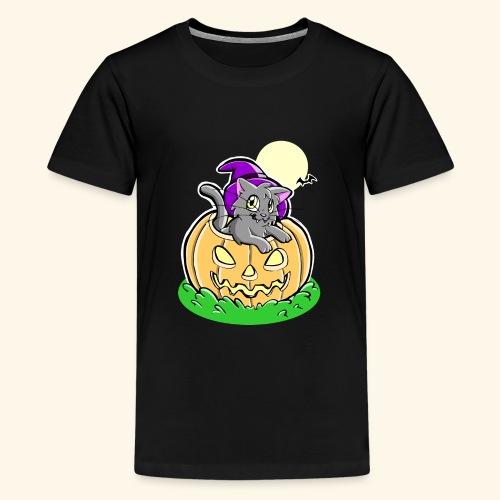 kürbiskatze.PNG - Teenager Premium T-Shirt
