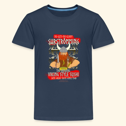 Surströmming Challenge Viking Sushi T-Shirt - Teenager Premium T-Shirt