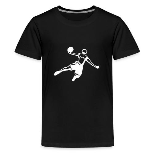 Basketball Dunk Player - Maglietta Premium per ragazzi