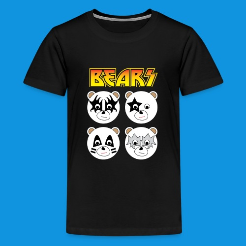 Kiss Bears square.png - Teenage Premium T-Shirt