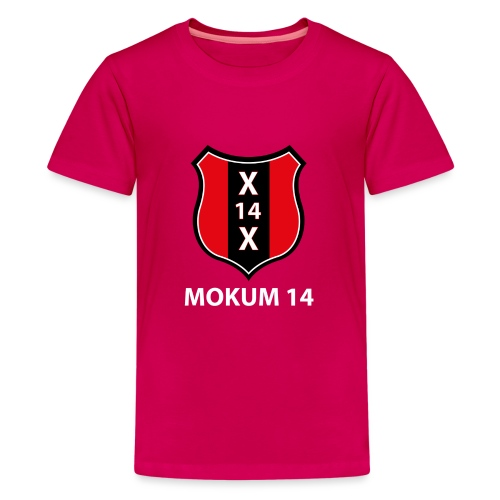 Mokum 14 Emblem (white text) - Teenager Premium T-shirt