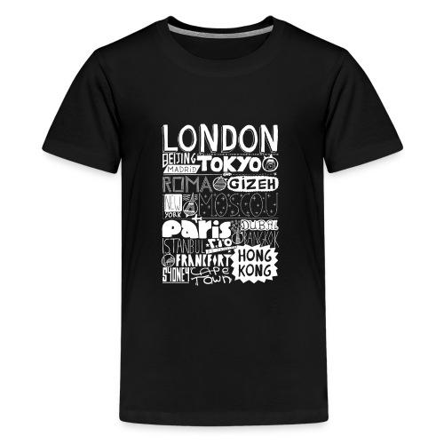 Villes du monde - blanc - T-shirt Premium Ado