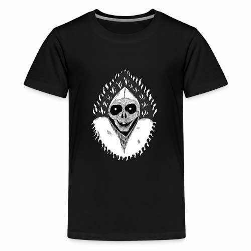 Grimp reaper blank text black & white - T-shirt Premium Ado