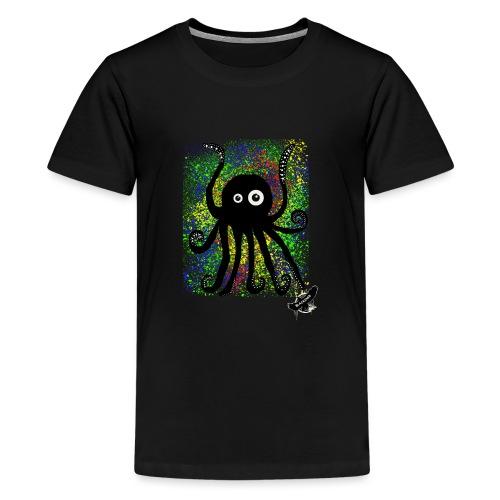 Sweet Octopus by BlackenedMoonArts, with logo - Teenager premium T-shirt