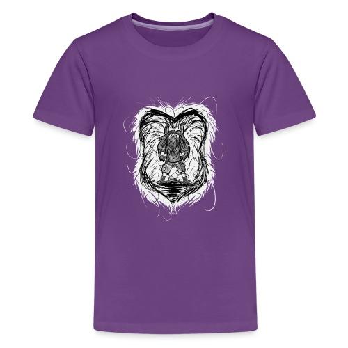 Horned Metalhead - Teenage Premium T-Shirt