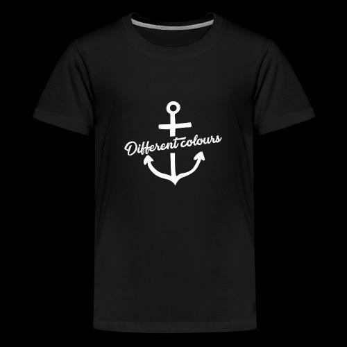Different Colours White Logo - Maglietta Premium per ragazzi