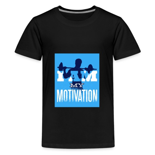 motivation gym fitness muscle calisthenics sport - Teenage Premium T-Shirt