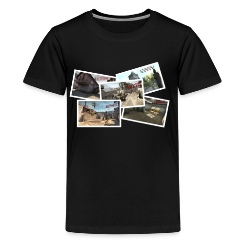 DE TOURIST png - Teenage Premium T-Shirt