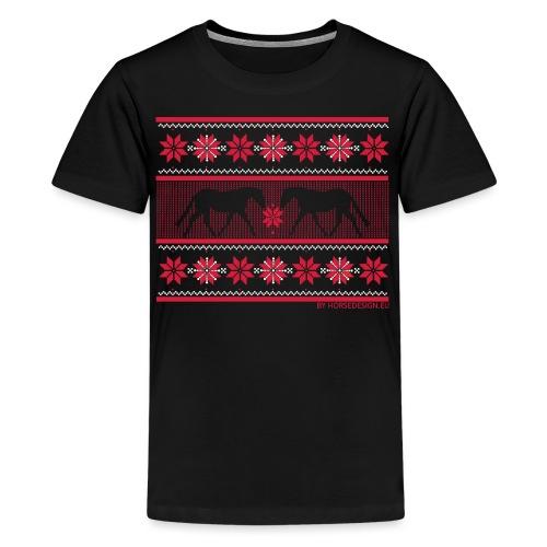 Ugly Sweater Pferde - Teenager Premium T-Shirt
