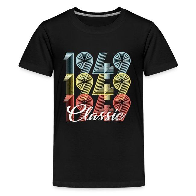 71 Geburtstag Geschenk Geboren In 1949 Vintage Teenager Premium T Shirt