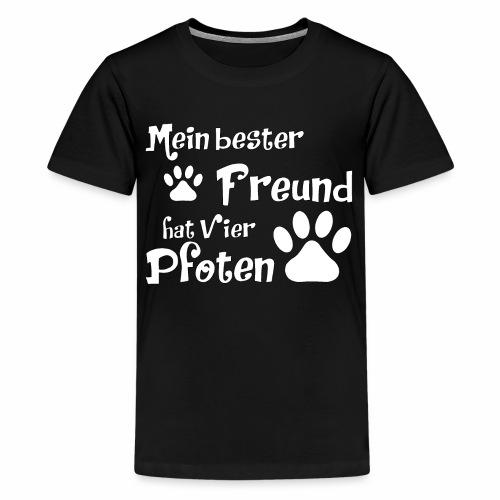 Mein bester Freund hat vier Pfoten - Katze - Teenager Premium T-Shirt