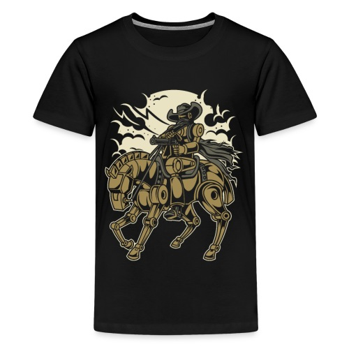 Steam Punk Cowboy - Teenager Premium T-Shirt