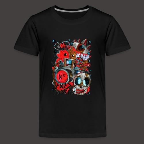 AGAC Picture Rouge et Bleu - T-shirt Premium Ado