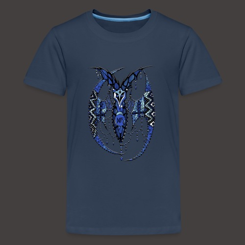 Chauve Souris Dentelle Bleue - T-shirt Premium Ado