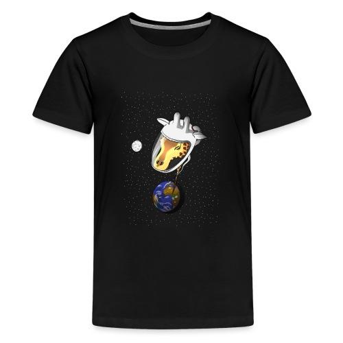 Giraffe im Weltraum - Teenager Premium T-Shirt