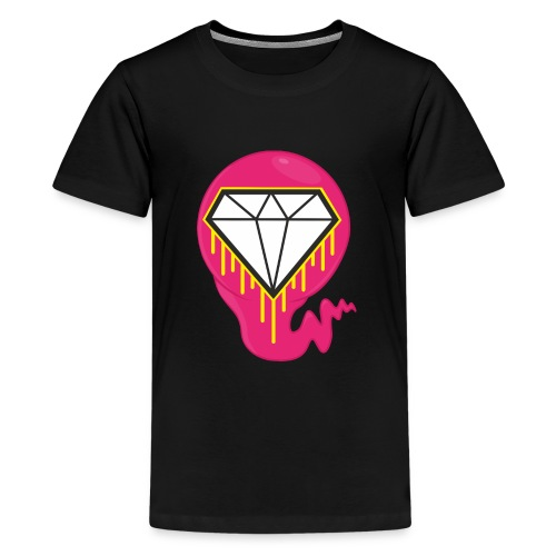 DIAMOND HEART PRINT SHIRT - Teenage Premium T-Shirt