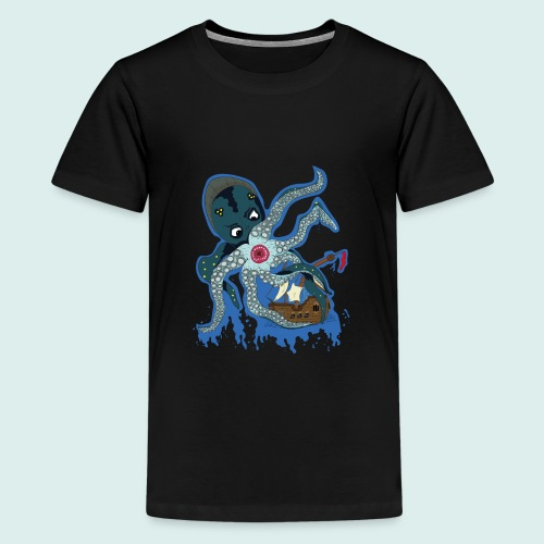 Männer Tank Top mit Ringerrücken - Kraken (Limit - Teenager Premium T-Shirt
