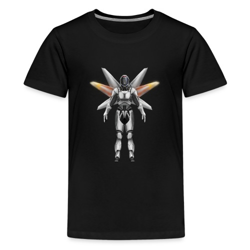 Robot with wings - Teenage Premium T-Shirt