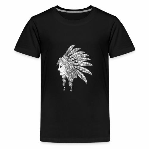 Indian Girl Illustration - Teenage Premium T-Shirt