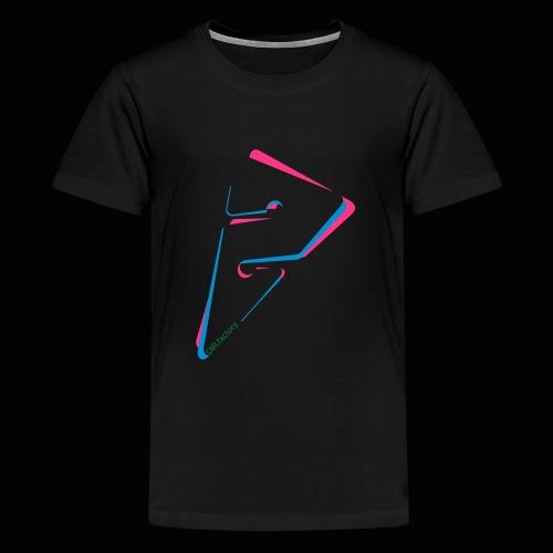 arrow freigestellt mit dirfactorytext - Teenager Premium T-Shirt