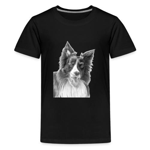 border collie 3 - Teenager premium T-shirt
