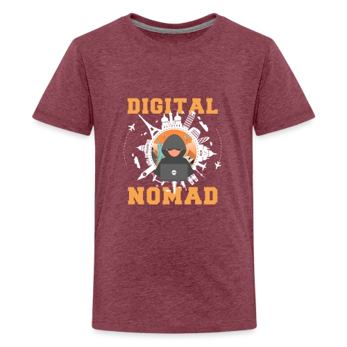 Digital Nomad - Teenager Premium T-Shirt