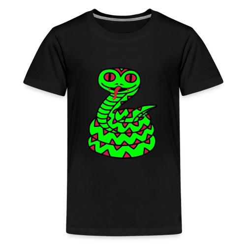 Schlange - Teenager Premium T-Shirt