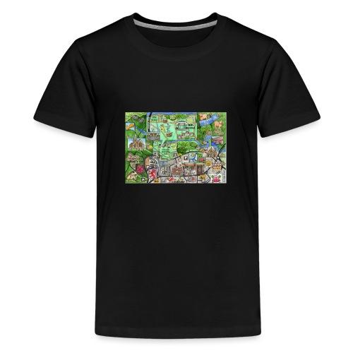 Staycation Live map - Teenage Premium T-Shirt