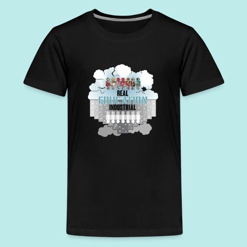 Real Education vs. Industrial Education - Camiseta premium adolescente