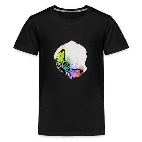 Katze Aquarell Loch - Teenager Premium T-Shirt