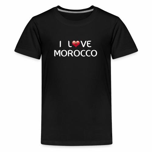 i_love_morocco - Camiseta premium adolescente