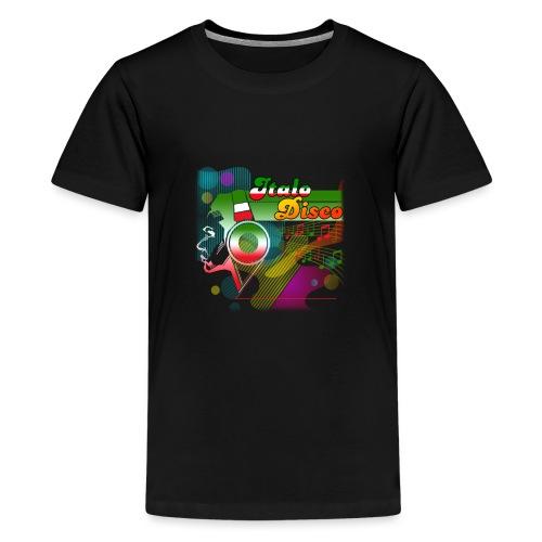 Italo Disco Lover - Premium T-skjorte for tenåringer