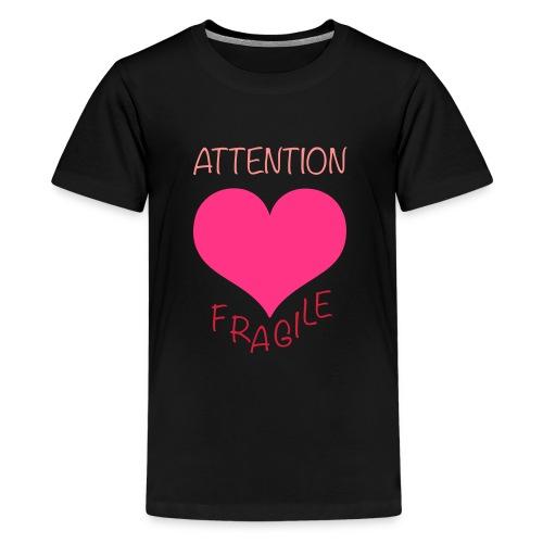 coeur fragile - T-shirt Premium Ado