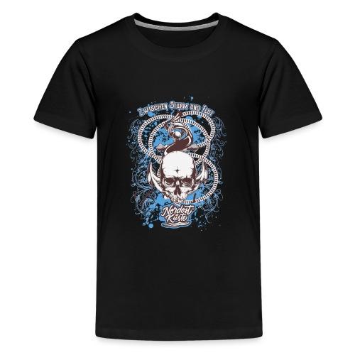 Skull Anker Design Art - Teenager Premium T-Shirt