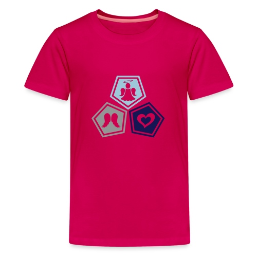 Tee shirt baseball Enfant Trio ange, ailes d'ange - Teenage Premium T-Shirt