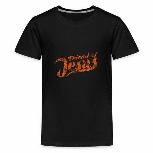 Friend of Jesus orange - Teenager Premium T-Shirt
