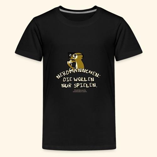 Nerdmännchen Erdmännchen Design für Geeks & Nerds - Teenager Premium T-Shirt