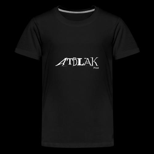 ATBLAK blanc grand - T-shirt Premium Ado
