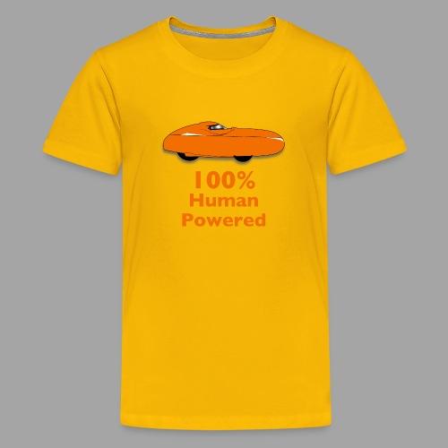 100% human powered - Teinien premium t-paita