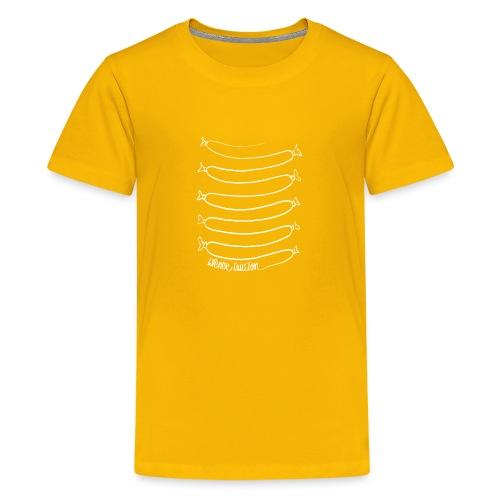 Wiener Illusion (weiß auf schwarz) - Teenager Premium T-Shirt