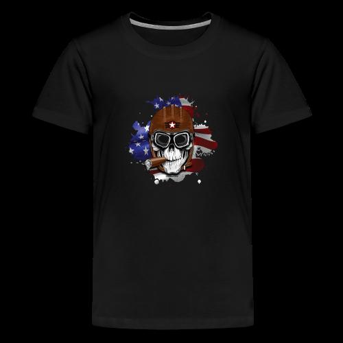AMERICAN PILOT - SKULL - USA - LAHJATUOTTEET - Teinien premium t-paita
