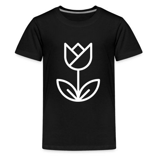 Tulip white png - Teenage Premium T-Shirt