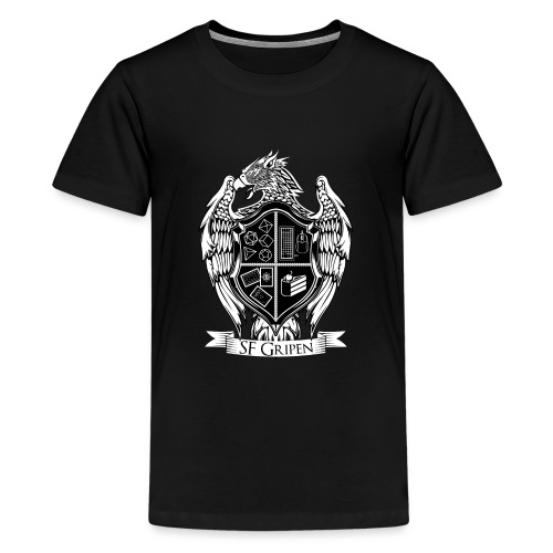 SF Gripen Stor Logga - Premium-T-shirt tonåring