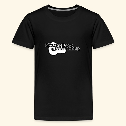 The Stringband RamblersLogo Black White - Teenager Premium T-Shirt
