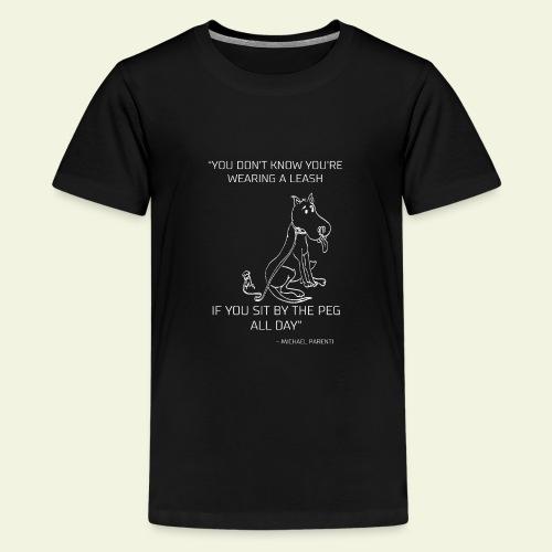Hundcitat - Premium-T-shirt tonåring