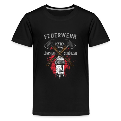 Retten Löschen Bergen Schützen - Teenager Premium T-Shirt