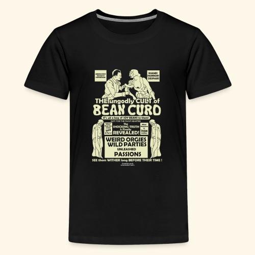 Vegan Tofu T Shirt Design Bean Curd - Teenager Premium T-Shirt