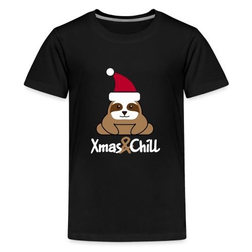 Faultier Weihnachten süß lustig Geschenk - Teenager Premium T-Shirt