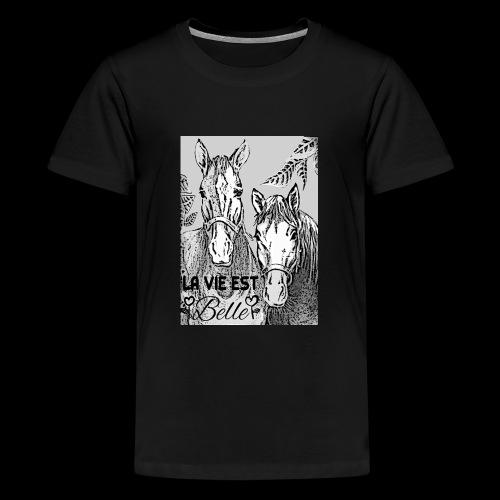 LA VIE EST BELLE - T-shirt Premium Ado