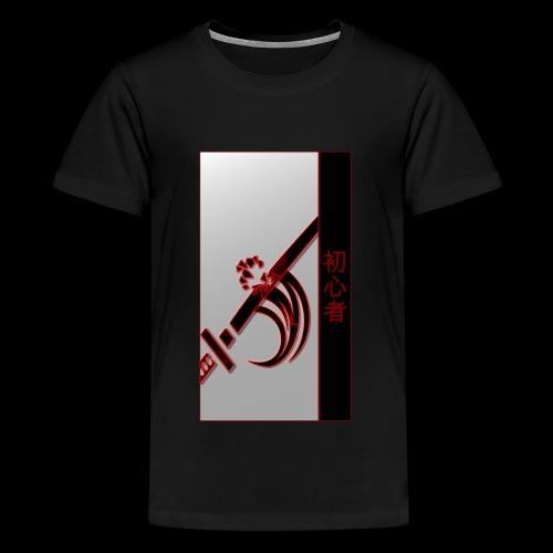 Damage Katana Neon Shirt - Teenage Premium T-Shirt